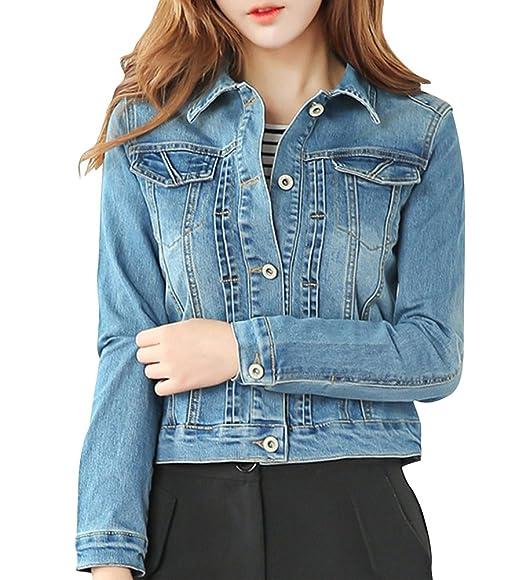 Jeans Femmes Filles Blouson Cardigan Manteaux Veste Denim 4ES7nP6E