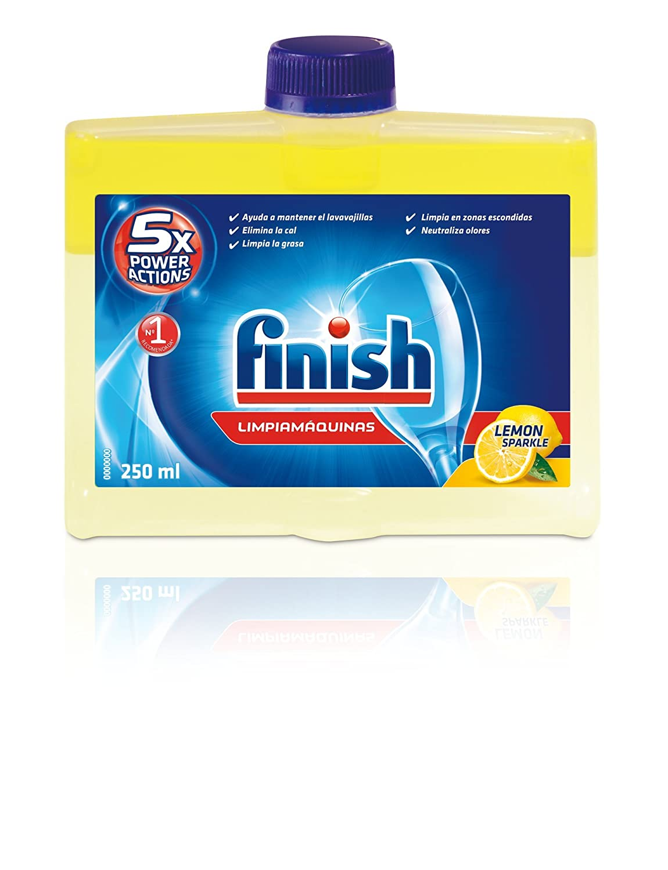 Finish Limpiamáquinas Líquido para Lavavajillas Limón - 250 ml ...