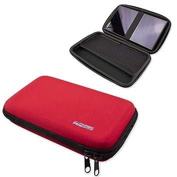 caseroxx GPS Tasche für Garmin DriveSmart 61 LMT, (GPS Tasche mit Reissverschluss und Gummizug in rot)