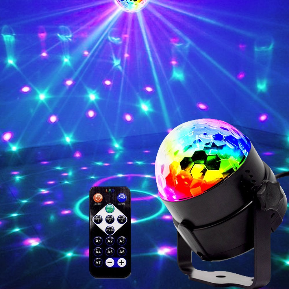 Children Room Halloween Rotating Led Disco Magic Ball For Christmas