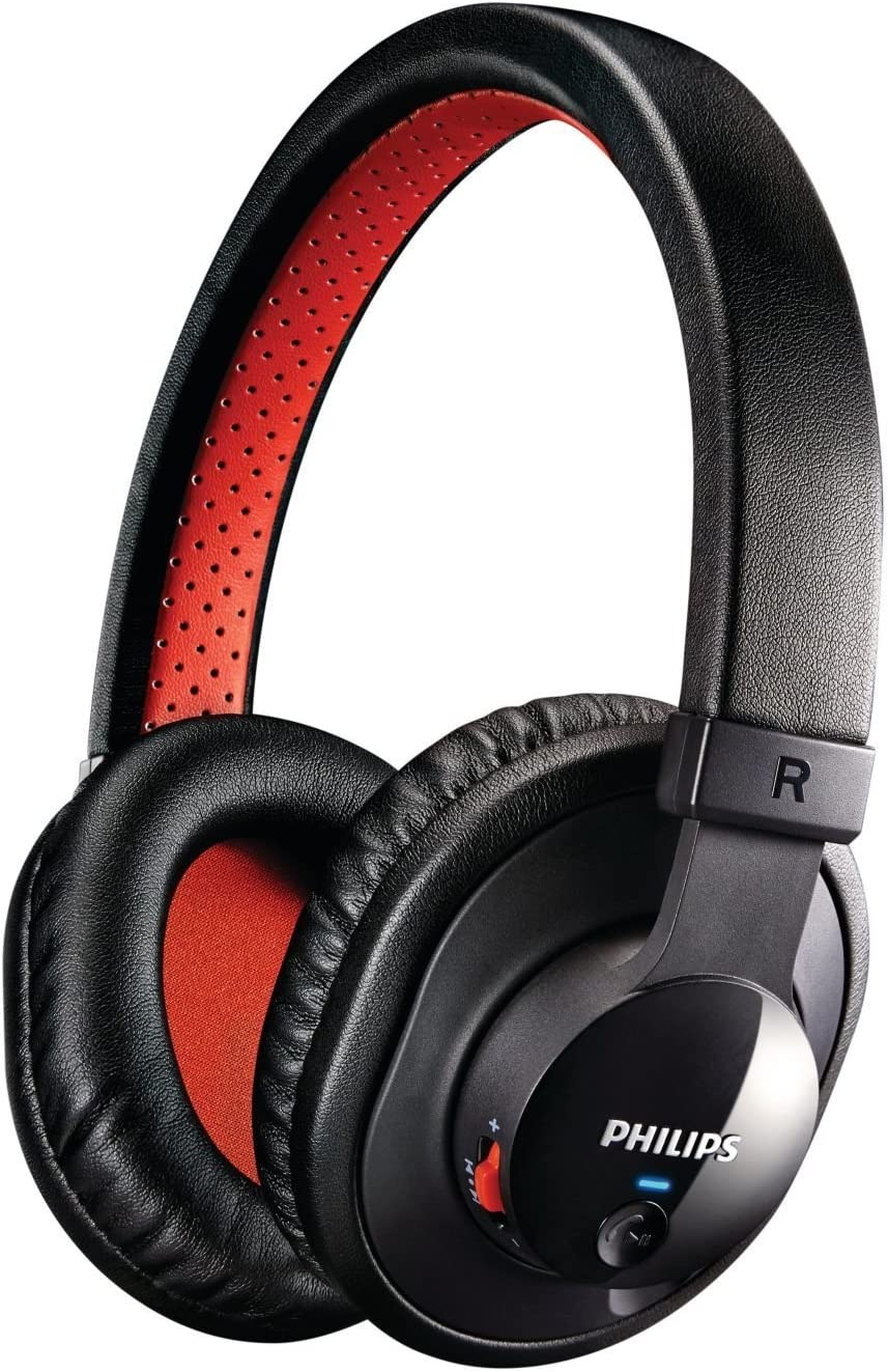 Philips Premium Lightweight Wireless Bluetooth Extra Bass Noise-Isolating Stereo Headphones