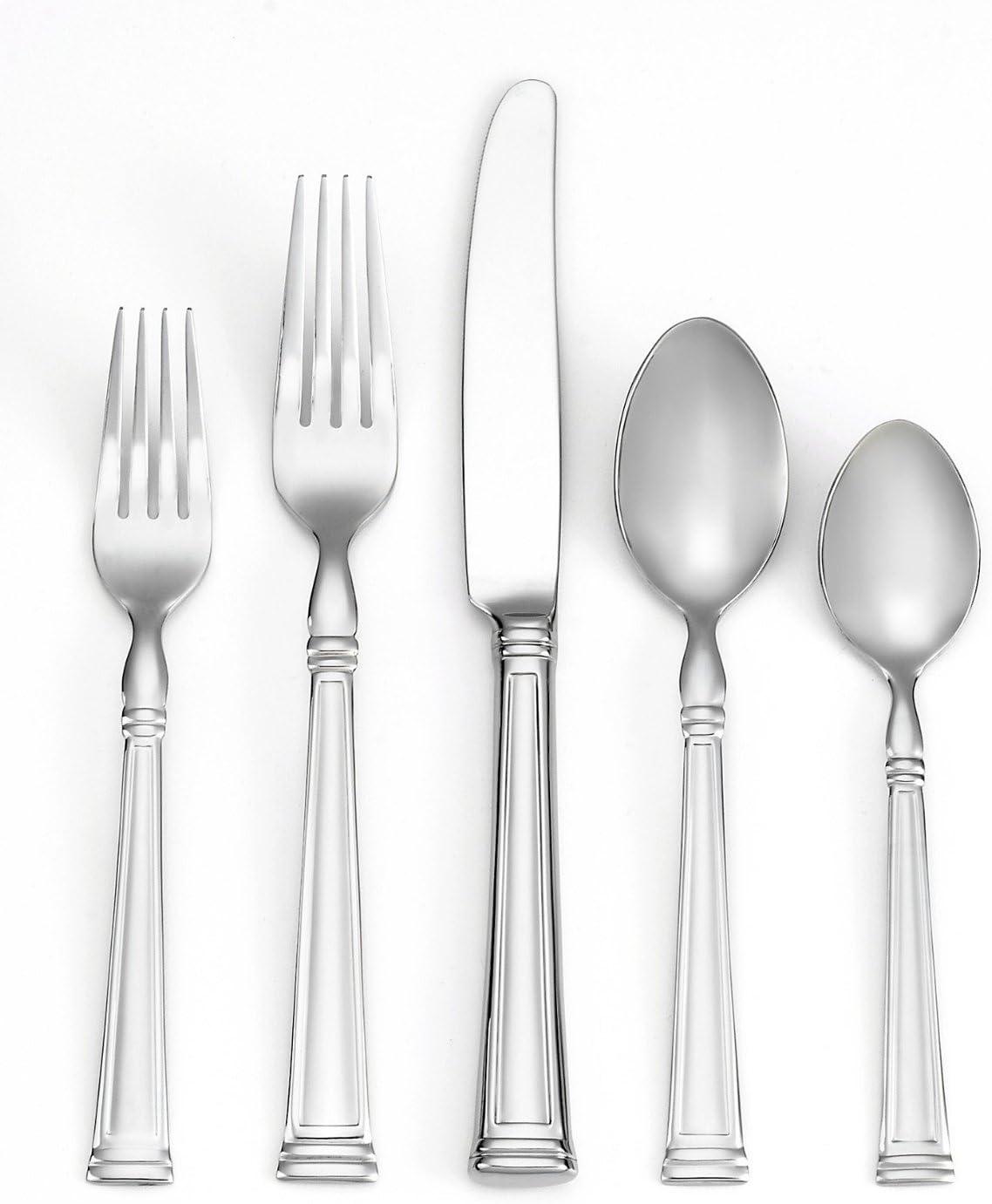 Lenox 18//10 Stainless Flatware BEAD pattern Set Of 4 Dinner Forks