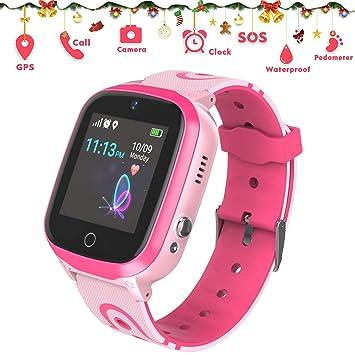 GPS Reloj Inteligente para niños Teléfono - GPS + WiFi + LBS Rastreador Smartwatch con podómetro Llamada SOS Chat de Voz Despertador Cámara Juego ...