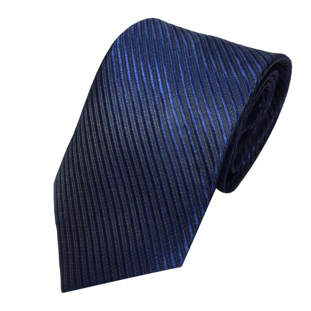 Herren Krawatten SOMESUN Mens-klassischer Jacquardwebstuhl gesponnene gestreifte Krawatte Bindungs Party Hochzeits Krawatte