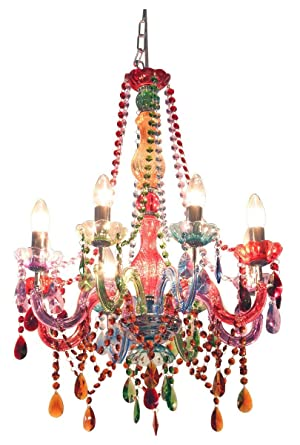 Funky gypsy multicoloured chandelier light amazon lighting aloadofball Choice Image