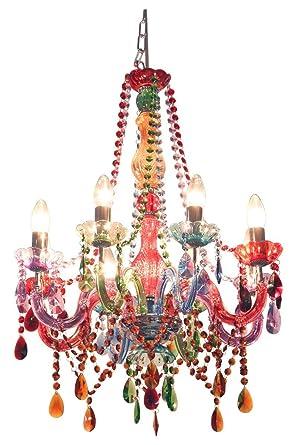 Funky gypsy multicoloured chandelier light amazon lighting funky gypsy multicoloured chandelier light aloadofball Gallery