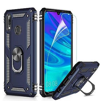 LeYi Funda Huawei P Smart 2019 / Honor 10 Lite Armor Carcasa con 360 Anillo iman Soporte Hard PC y Silicona TPU Bumper antigolpes Fundas Case para ...