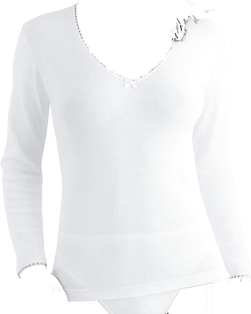 PLAYTEX & Princesa P01BT - Camiseta termica Mujer (Blanco, S): Amazon.es: Ropa y accesorios