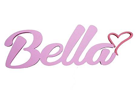 Nombre del niño o niña de puerta placas con corazón,Bella,regalos ...