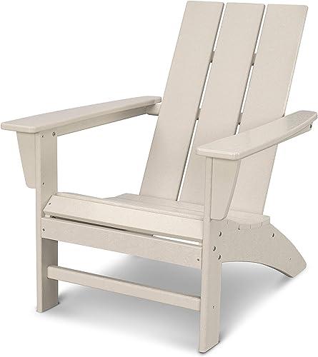 POLYWOOD AD420SA Modern Adirondack Chair, Sand