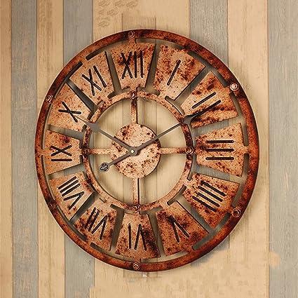 European Style Retro Industrial Style Roman Digital Gear Wall Clock Creative Home Decor Clock Bar Wall