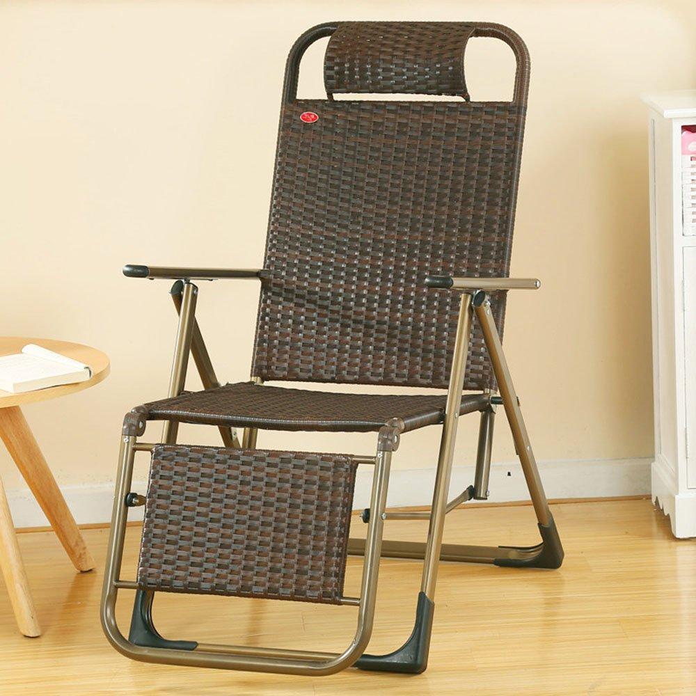 ZR- 折り畳み式の椅子リクライニングオフィスの昼寝午後の椅子怠惰な椅子古い椅子屋外の籐の椅子レジャービーチチェア(色はオプション) (色 : C) B07DJP1GSJ C C