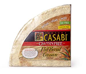 Casabi Artisan Flatbread 2-Pk (Cassava Bread) ***Bake First***, Naturally Gluten-Free (GF), Vegan, Paleo, Low Fodmap, AIP Friendly, Casabe, 100% Yuca Root. 7.05 oz/pack (2-pack)