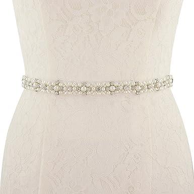 TOPQUEEN Brautkleid gürtel perlen Braut Schärpe Rhinestones Hochzeit ...