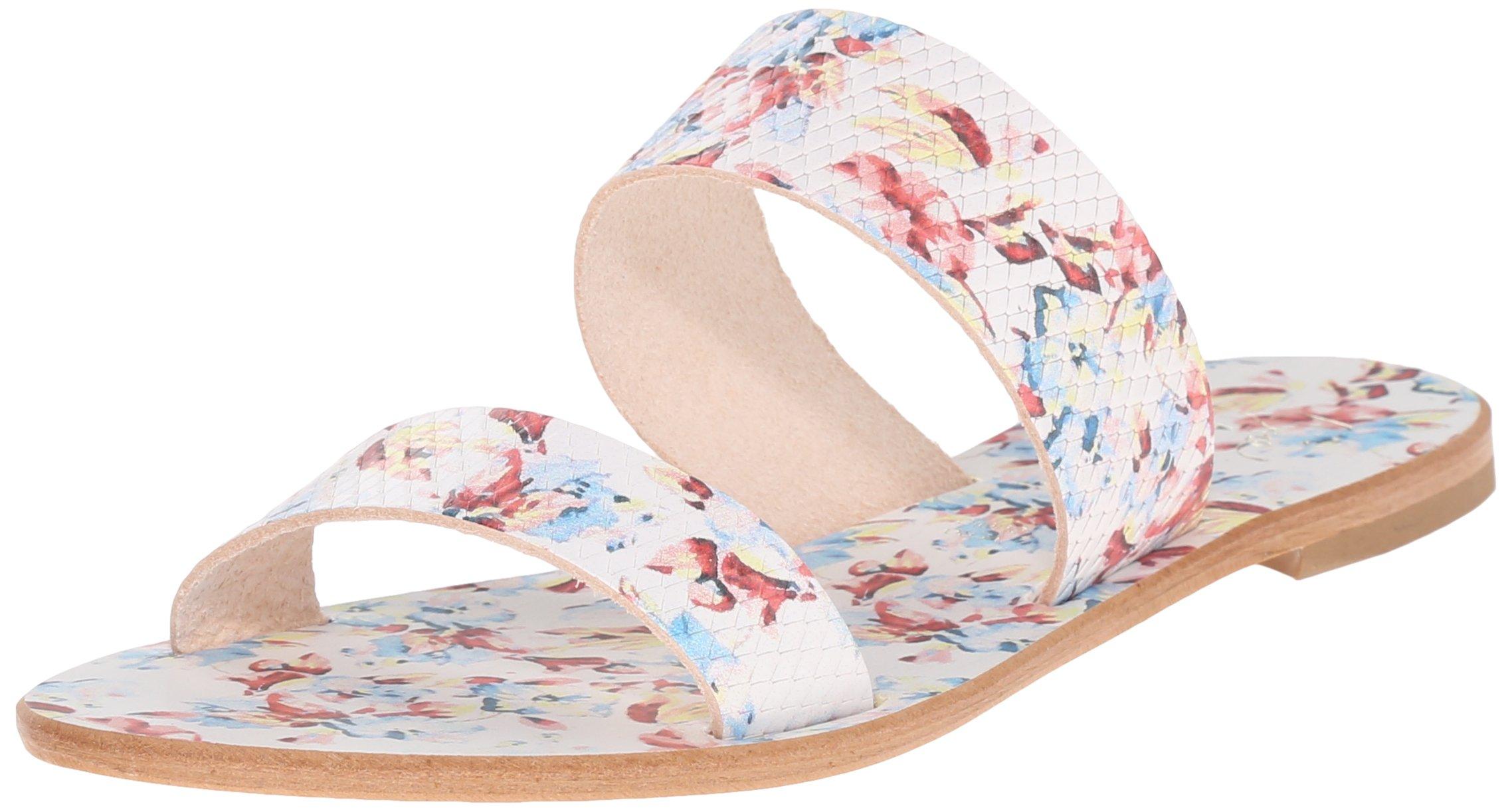Joie Women's Sable Slide Sandal, Floral White, 37 EU/7 M US
