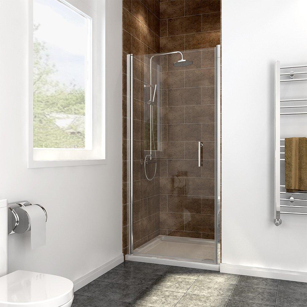 700mm Frameless Pivot Shower Door Enclosure Glass Reversible Shower