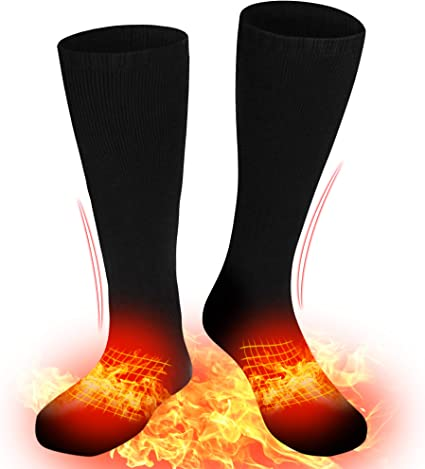 Electric Heated Socks Boot Feet Warmer Winter USB Rechargable Sock WITH Remote
