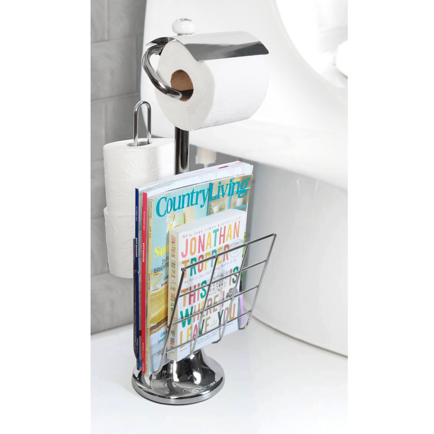Amazon Toilet Paper Caddy Tissue Dispenser and Stand with