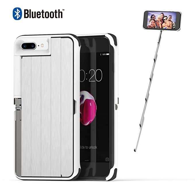 check out 5c23a e04df Amazon.com: iPhone 8 Plus Case White iPhone 7 Plus Case with Selfie ...