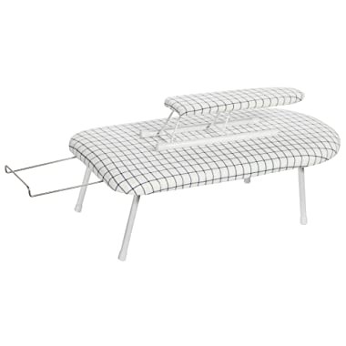 STORAGE MANIAC Tabletop Ironing Board with Sleeve Board & Iron Rest, Folding Legs with Cotton Cover