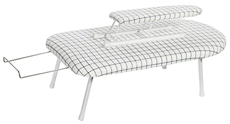 STORAGE MANIAC Tabletop Ironing Board with Sleeve Board /& Iron Rest Folding Legs with Cotton Cover STM1001000003