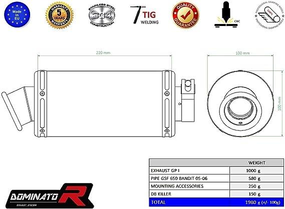Dominator Exhaust Suzuki Gsf 650 Bandit 05 06 Db Killer Auto