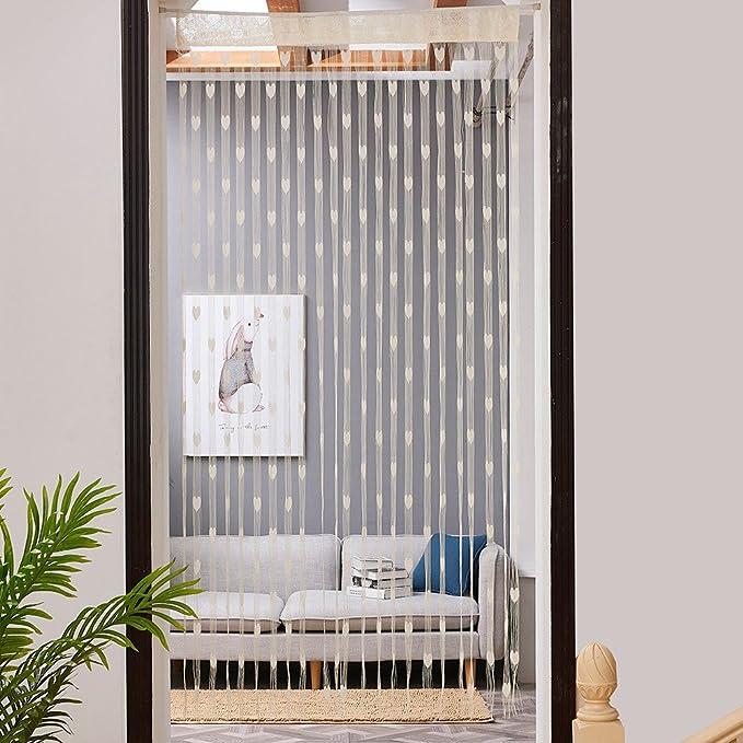 Vorhang,Quaste Herzlinie String Vorhang Für Wohnzimmer ...
