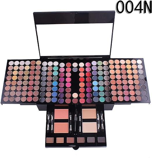 QGPWHLS Estuche De Paleta De Sombras De Ojos Juego De Maquillaje De 180 Colores Shimmer Matte Eye Shadow Cosmetics Box Blush Powder 6 Colores Bronzer Make Up Kit,004n: Amazon.es: Hogar