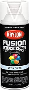 Krylon K02735007 Fusion All-In-One Spray Paint for Indoor/Outdoor Use, Satin Clear