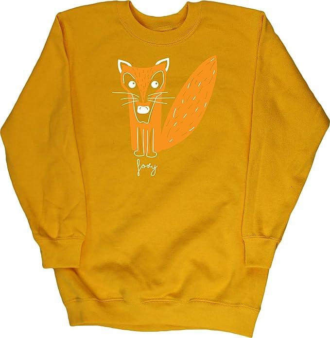 HippoWarehouse Foxy Fox Illustration Jersey Sudadera suéter Derportiva Unisex niños niñas: Amazon.es: Ropa y accesorios