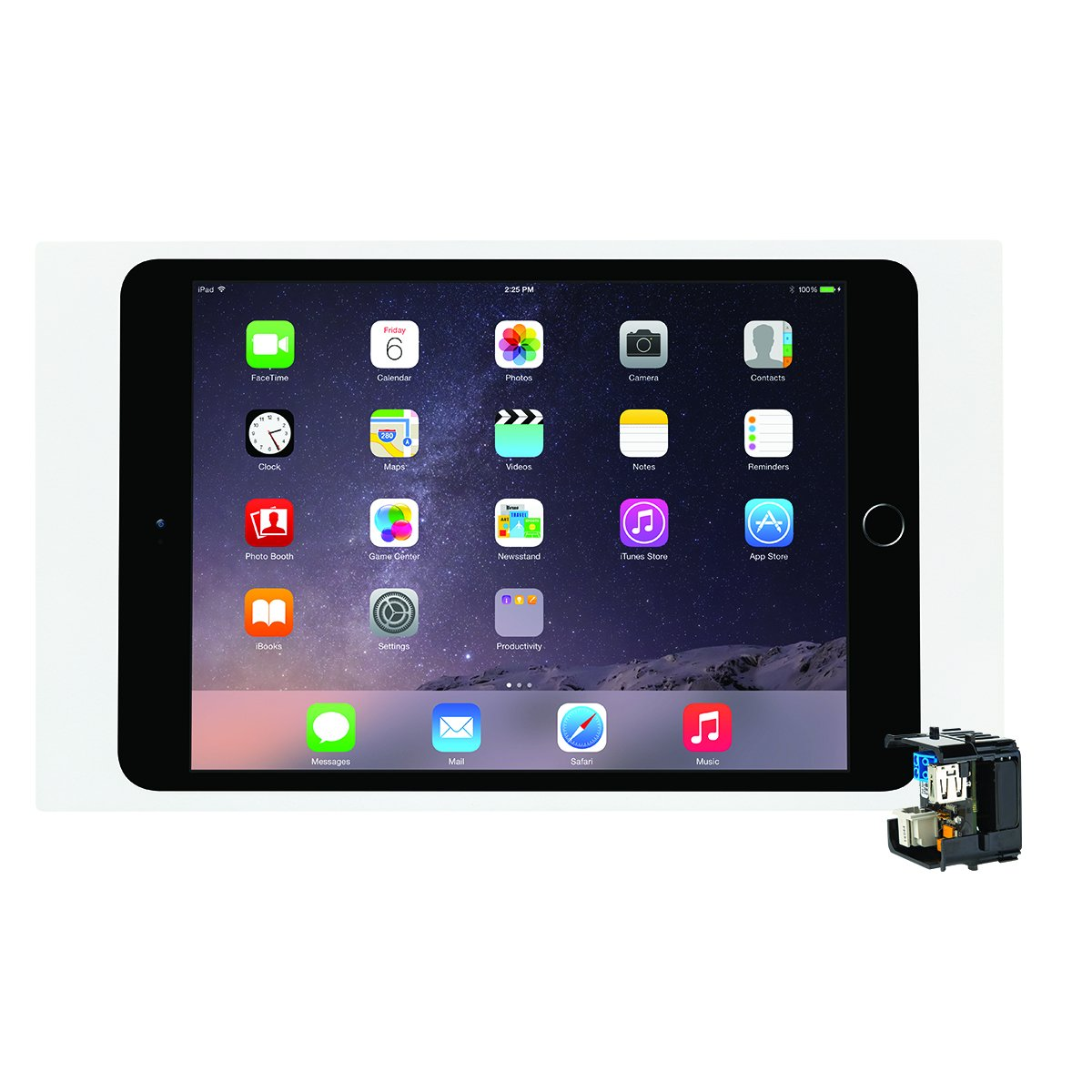 iPort 70739 Surface Mount System (Bezel for iPad Air, 2 and Pro 9.7''- White and PoE Splitter)