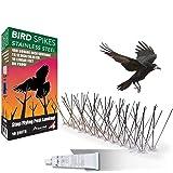 ASPECTEK   Bird Spikes Stainless Steel 10 Feet (3 Metres), Bird Deterrent Kit with Adhesive, Stainless Steel Bird Spikes