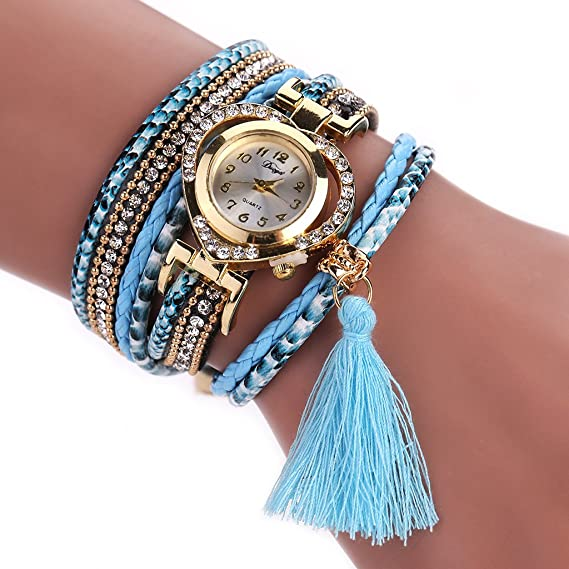 mimgo Vintage chica mujeres relojes corazón rhinestone dial pulsera de cuarzo vestido reloj de pulsera (