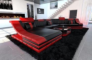 XXL Conjunto de Muebles Para Salón TURINO CL Forma Rojo ...