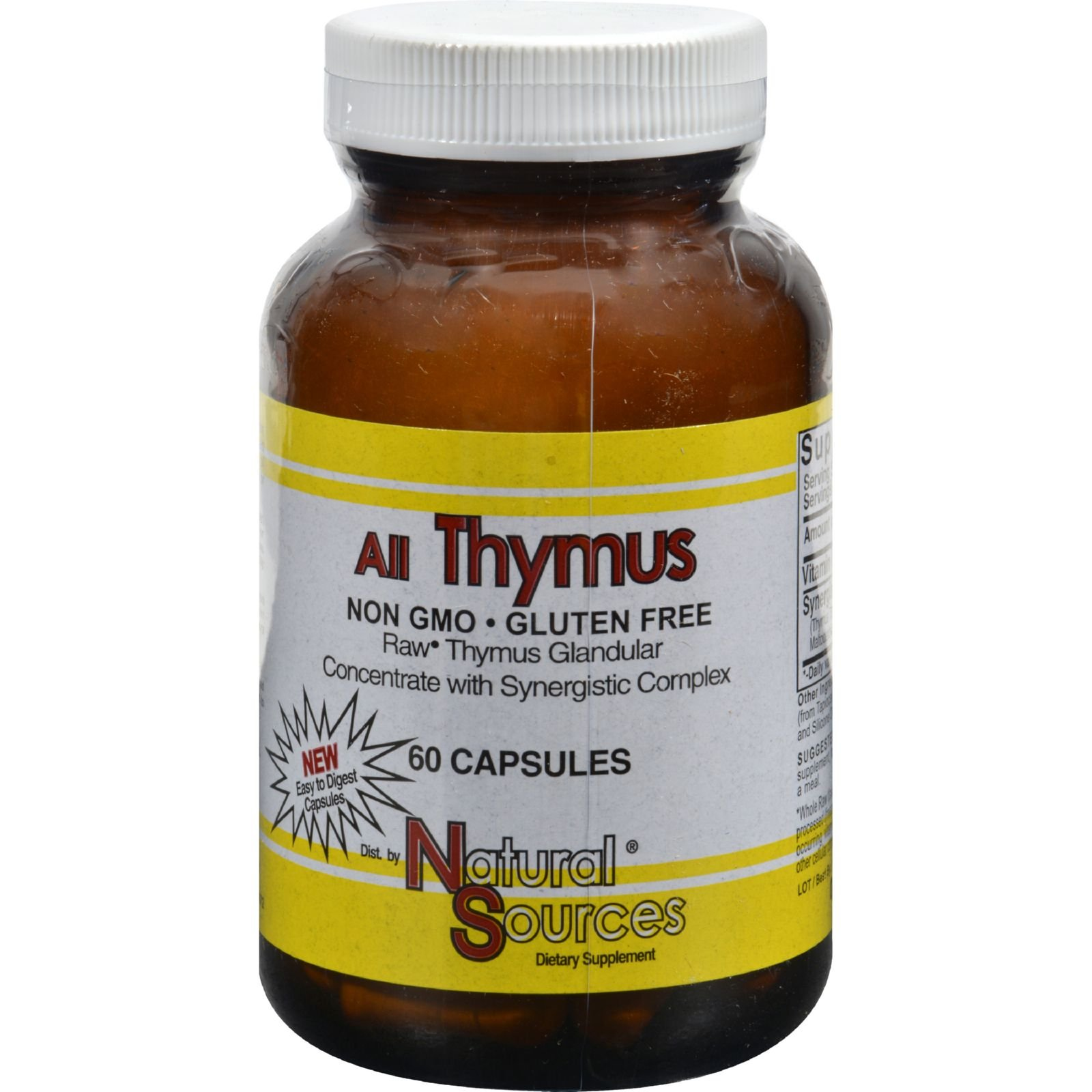 Natural Sources All Thymus - Non GMO - Gluten Free - 60 Capsules (Pack of 2)