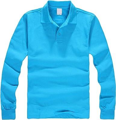 YY Cherry Men Polo Shirt Mens Collar Shirts Long Sleeve Casuals ...