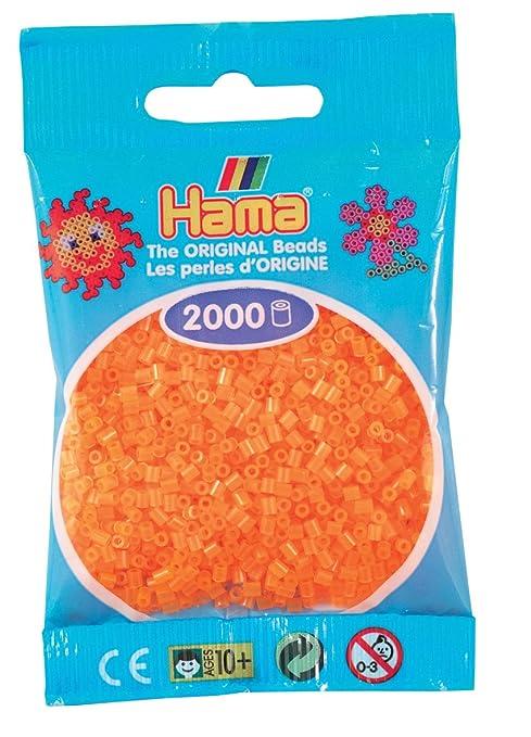 Desconocido Hama Perlen 501-38 - Cuentas Mini 2000 piezas de neón de color naranja