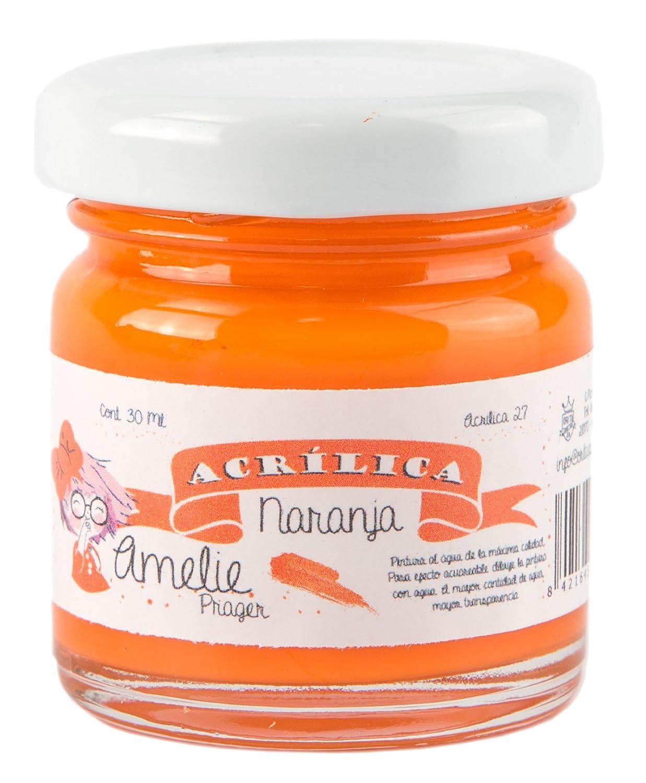 Amelie Prager AMA-27 Pintura Acrí lica, Naranja, 30 ML Orita