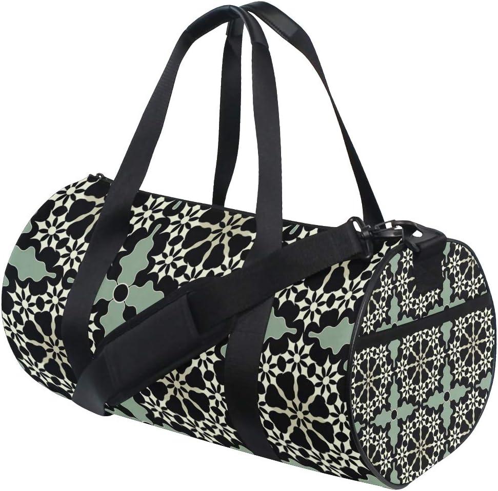 MALPLENA Artistic Flowers Drum gym duffel bag women Travel Bag