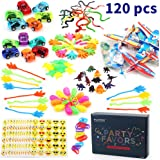 Amy & Benton 120PCS Prize Box Toys for Classroom Pinata Filler Toys for Kids Birthday Party Favors Assorted Carnival Prizes for Boys and Girls Treasure Box / Chest Prizes Toys for Classroom