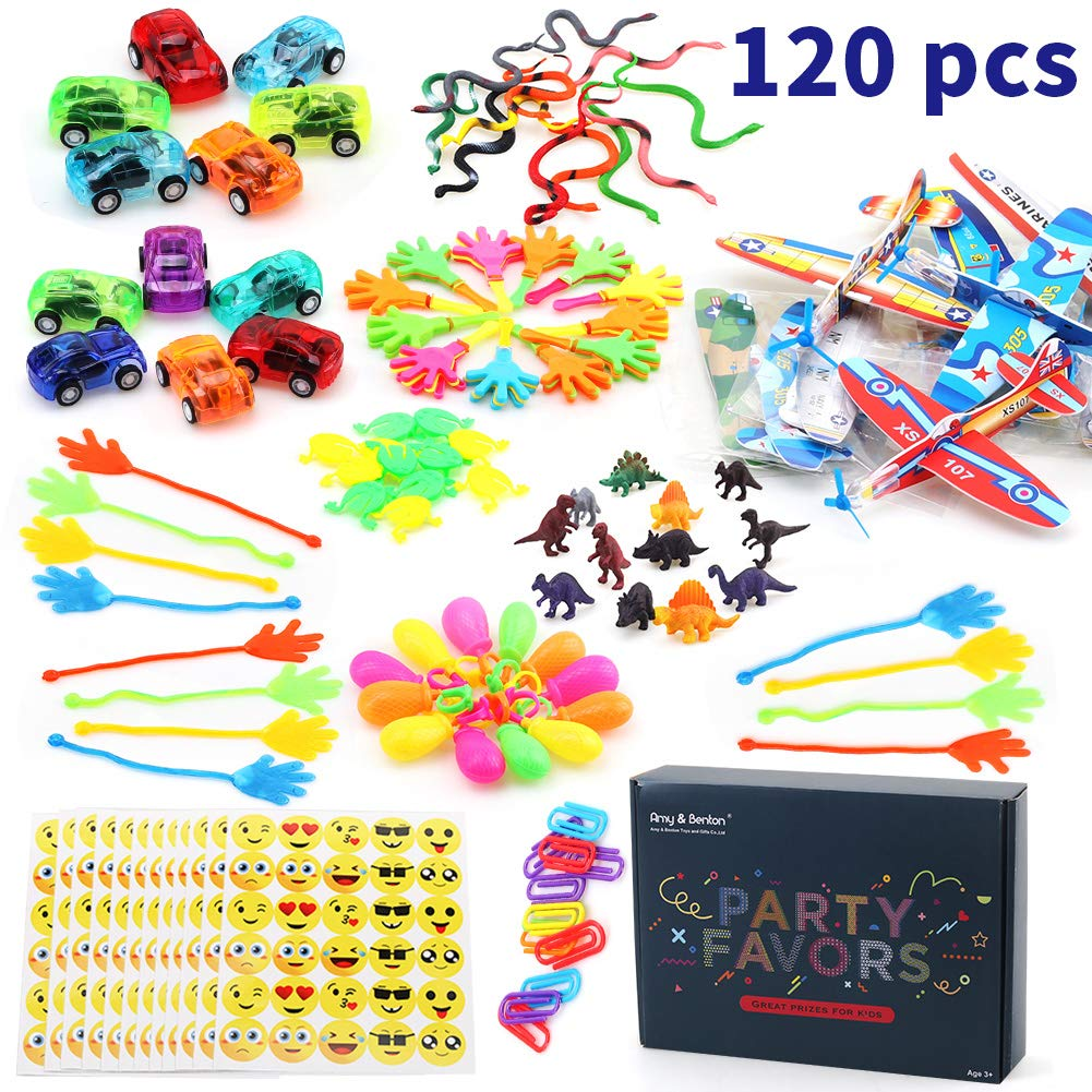 Amy&Benton 120PCS Prize Box Toys for Classroom Pinata Filler Toys for Kids Birthday Party Favors Assorted Carnival Prizes for Boys and Girls Treasure Box / Chest Prizes Toys for Classroom by Amy & Benton