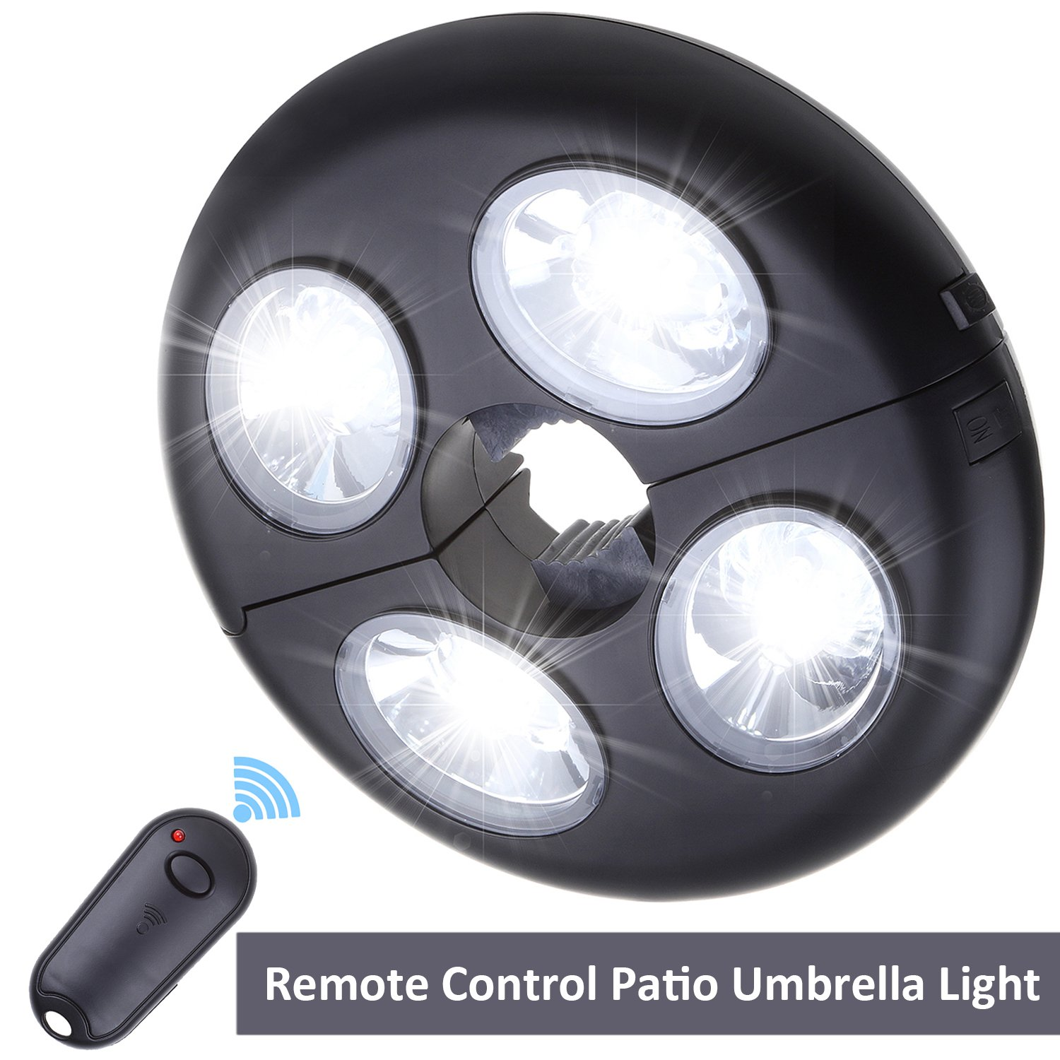 Remote Control Patio Umbrella Light 2 Bright Level Dimming Umbrella Pole Lights 27 LED Night Light Outdoor Camping Lamp Tents Lighting White Light