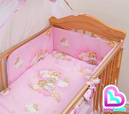 Lujo 6 piezas Juego de cama para cuna de bebé ropa de cama REG. 120