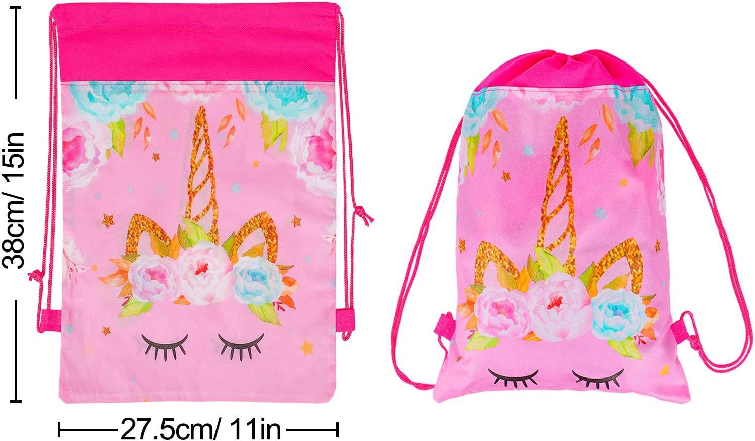 Amazon.com: Bolsas de fiesta con cordón de unicornio, color ...