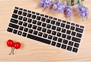 Colorful Silicone Keyboard Cover Skin Protector for Lenovo Flex 4 1480 Yoga 5 Pro Yoga 910 13 910 13ikb Miix720 Miix 720 12,Black