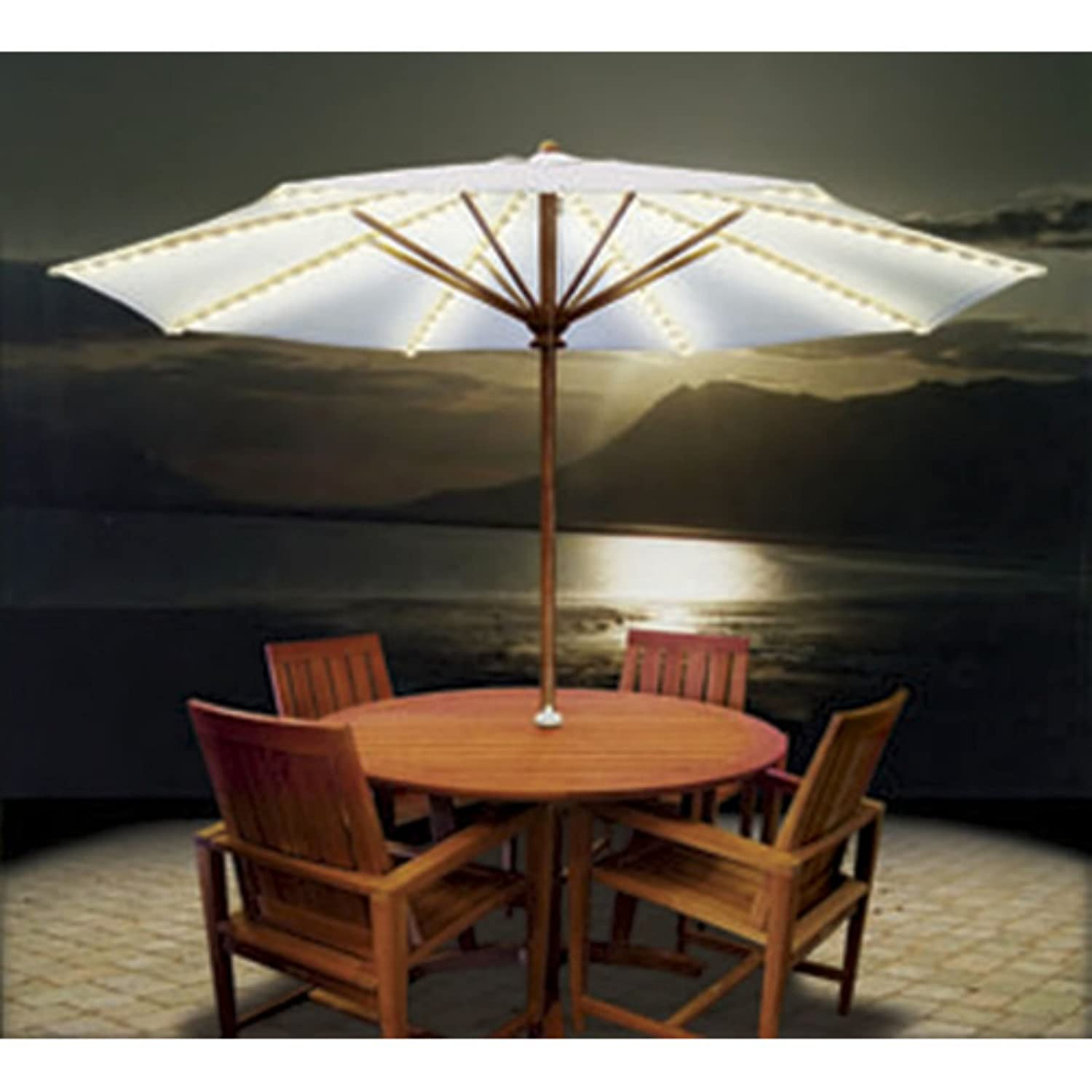 Awesome Blue Star Group BRELLA LIGHTS   Patio Umbrella Lighting System With Power  Pod     Amazon.com
