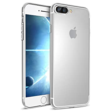 UBEGOOD Funda iPhone 7 Plus, iPhone 8 Plus Funda iPhone 7/iPhone 8 Plus Funda Carcasa Case Bumper [Anti-Arañazos] Slim Silicona Case para iPhone 7 ...