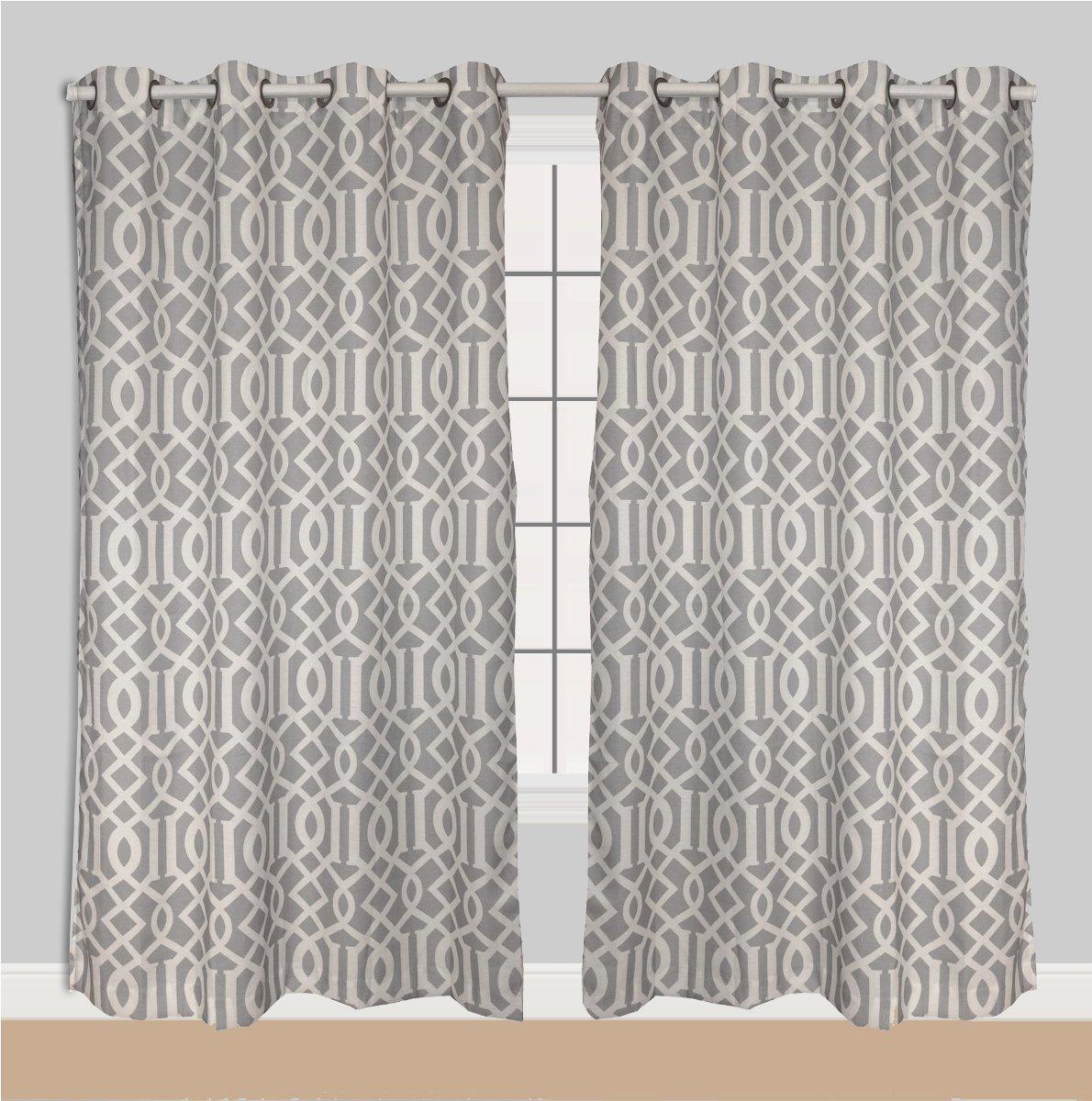 Trellis Drapes Part - 18: Amazon.com: Luxurious Moroccan Trellis Grommet Curtain Panels 84-inch X 54  Inch Set Of 2 Silver Grey: Home U0026 Kitchen