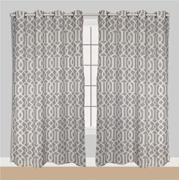 panel linen trellis fabric curtains floral tab top nature curtain single sheer semi