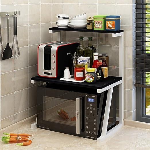 &&WKK Shelf Estante De Microondas para Cocina Estante De 2 ...